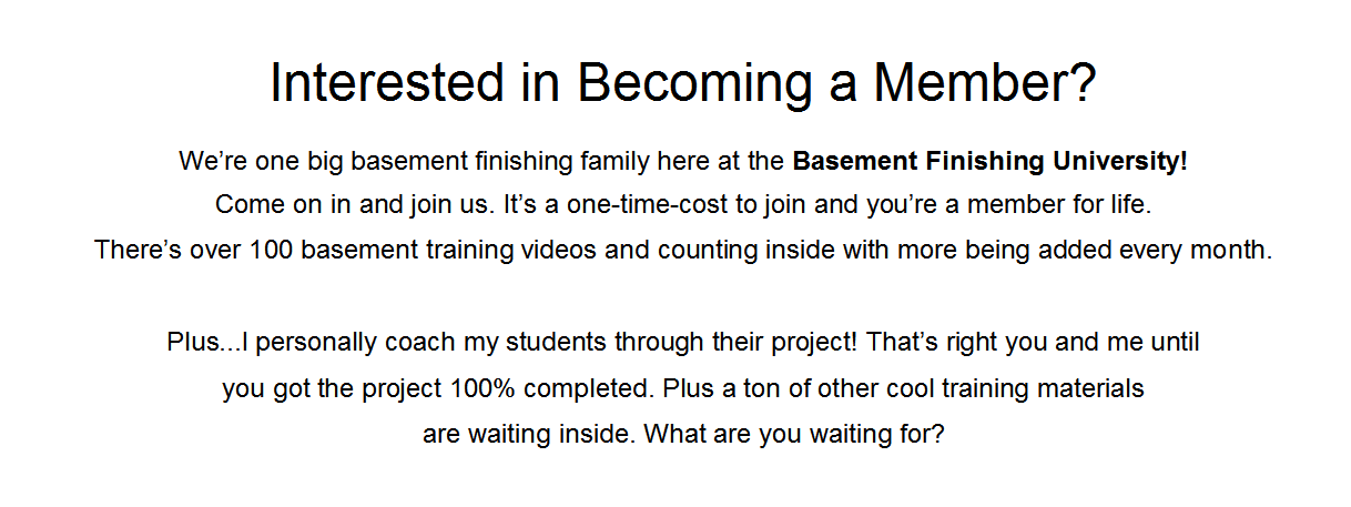 Finishing Your Own Basement