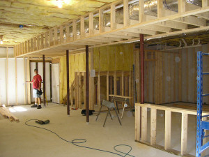 How to frame around the duct work in basements for Framing interior basement walls