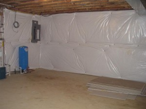 Existing Basement Wall Blanket Insulation Keep It Or