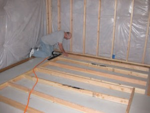 existing basement wall blanket insulation